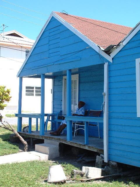 blue house in Eleuthera