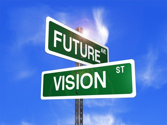 future-vision street sign