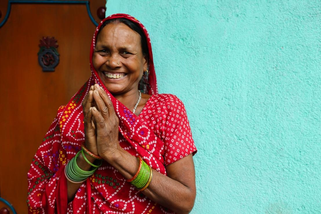 indian woman namaste