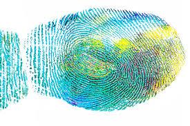 colorful fingerprint