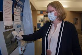 person with medical mask